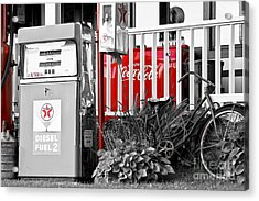 Tinted Fuel For Life Acrylic Print by Brenda Giasson