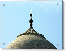 Tip-top Of Taj Acrylic Print by Ashley St. John