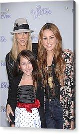 Tish Cyrus, Noah Cyrus, Miley Cyrus Acrylic Print by Everett