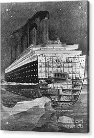 Titanic: Shipwreck, 1912 Acrylic Print by Granger