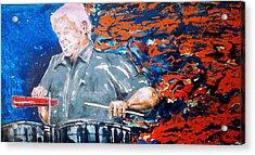 Tito Puente Acrylic Print by Omar Javier Correa