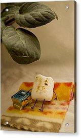 Toasting Acrylic Print by Heather Applegate