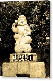 Tokyo Sculpture Acrylic Print by Naxart Studio
