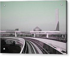 Tokyo Train Ride 2 Acrylic Print by Naxart Studio