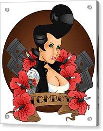 Tomboy Acrylic Print by Trissa Tilson