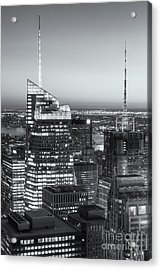 Top Of The Rock Twilight Vii Acrylic Print by Clarence Holmes