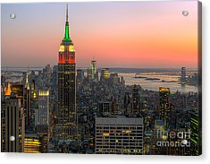 Top Of The Rock Twilight X Acrylic Print by Clarence Holmes