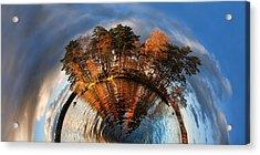 Top Of The World Lake Vuoksa Planet-rise Acrylic Print by Nikki Marie Smith