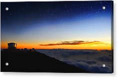 Top Of The World Acrylic Print by Peter Chilelli