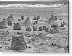 Topsail Island Sandcastle Acrylic Print by Betsy Knapp