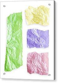 Torn Colorful Paper Acrylic Print by Blink Images