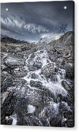 Towards The Cairn Acrylic Print by Andy Astbury