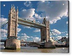 Tower Bridge Acrylic Print by Paul Biris