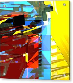 Tower Series 32 Golden Stairway Acrylic Print by Russell Kightley