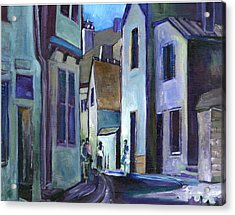 Town In Italy Acrylic Print by Carol Mangano