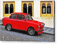 Trabant Ostalgie Acrylic Print by Christine Till