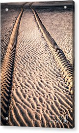 Tracks In The Sand Acrylic Print by Adrian Evans