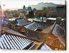 Traditional Tiled Roof Acrylic Print by SJ. Kim