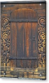 Traditional Wood Carvings Acrylic Print by Heiko Koehrer-Wagner