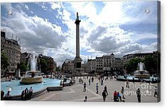 Trafalgar Square Acrylic Print by Pravine Chester