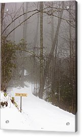 Trailhead Covered With Snow Acrylic Print by Will and Deni McIntyre