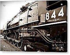 Train 844 Stopped Acrylic Print by Joseph Porey