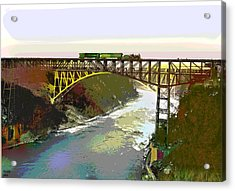 Train Trussel Acrylic Print by Charles Shoup