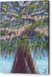 Tree Houses From Arboregal Acrylic Print by Dumitru Sandru