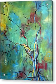 Tree Of Winding Color Acrylic Print by Ruth Palmer