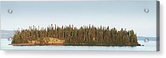 Trees Covering An Island On Lake Acrylic Print by Susan Dykstra
