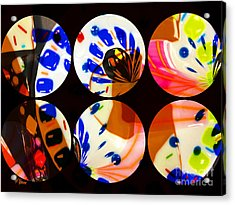 Tres 2 Acrylic Print by Cheryl Young