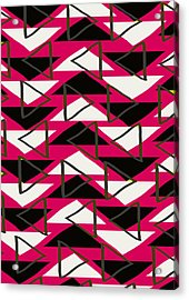 Triangles Acrylic Print by Louisa Knight