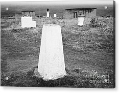 Triangulation Point And Old Weather Station At Dunnet Head Most Northerly Point Of Mainland Britain  Acrylic Print by Joe Fox