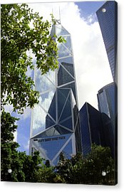 Buildings Acrylic Print featuring the photograph Triangulation by Roberto Alamino