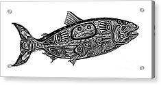 Tribal Salmon Acrylic Print by Carol Lynne