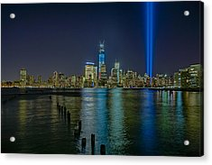 Tribute In Lights Acrylic Print by Susan Candelario