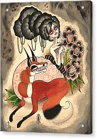 Trickster Acrylic Print by Kate Collins