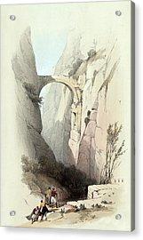 Triumphal Arch Across The Ravine Leading To Petra Acrylic Print by Munir Alawi