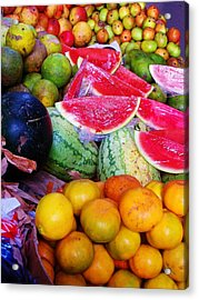 Tropical Colouring Acrylic Print by Bram Voets