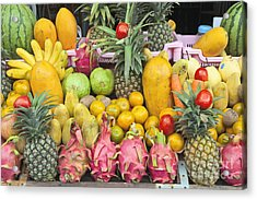 Tropical Fruit Display  Acrylic Print by Roberto Morgenthaler