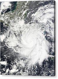 Tropical Storm Alma Acrylic Print by Stocktrek Images