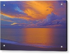 Tropical Sunset-2- St Lucia Acrylic Print by Chester Williams