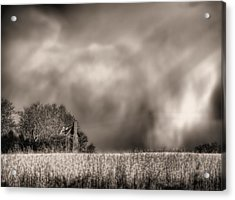 Trouble Brewing Bw Acrylic Print by JC Findley