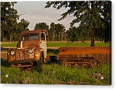 Truck And Tank 31 Acrylic Print by Douglas Barnett