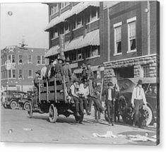 Truck On Street Near Tulsa, Oklahomas Acrylic Print by Everett