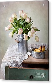 Tulips And Pears Acrylic Print by Nailia Schwarz