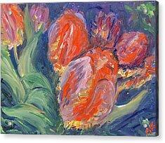 Tulips Acrylic Print by Barbara Anna Knauf