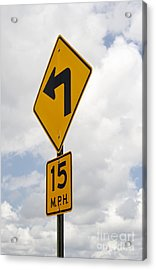 Turn Sign Acrylic Print by Blink Images