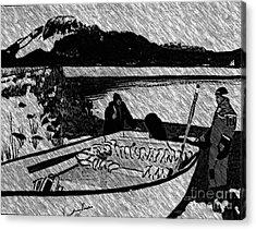 Turr Hunt Sketch Acrylic Print by Barbara Griffin