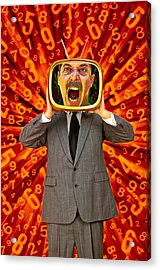 Tv Man Acrylic Print by Garry Gay